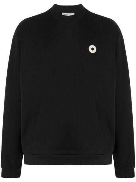 Czarny sweter bawełniany z długimi rękawami Drole De Monsieur