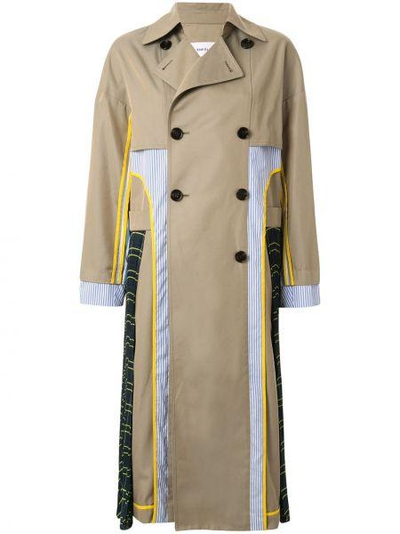 Długi płaszcz z kołnierzem beżowy Enfold