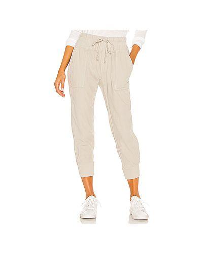 Серые брюки с карманами вельветовые в рубчик James Perse