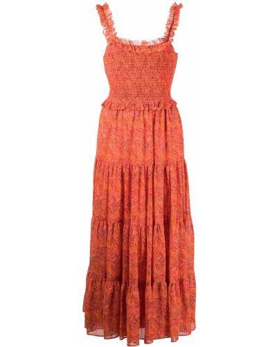 Красное платье с принтом Likely