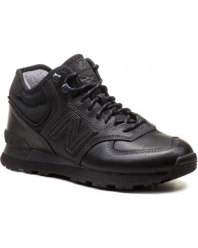 Skórzany sneakersy czarny New Balance