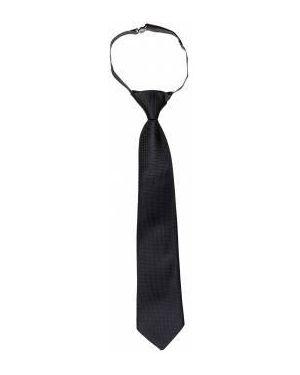 Деловой синий галстук на резинке Button Blue