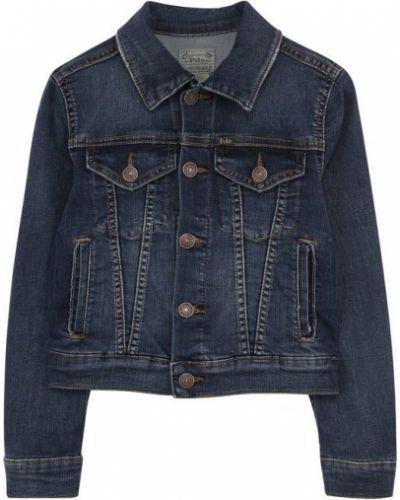 Джинсовая куртка на пуговицах с карманами Polo Ralph Lauren