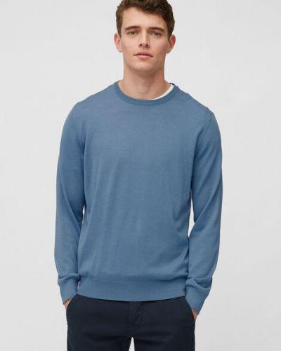 Klasyczny niebieski sweter wełniany Marc O Polo