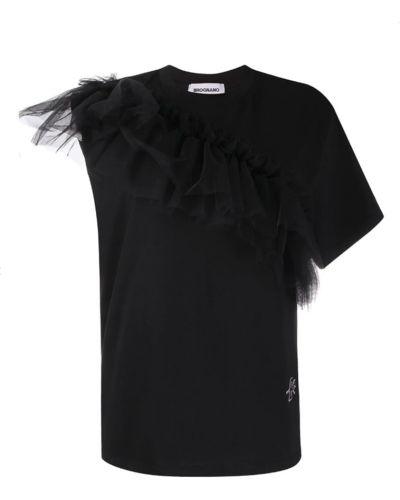 Czarny t-shirt Brognano
