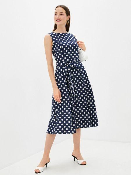 Повседневное платье синее весеннее Rosso-style
