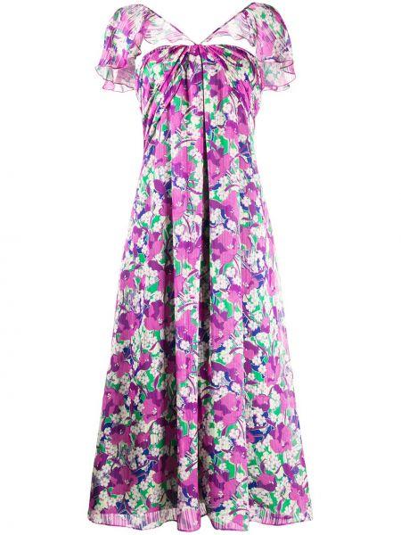 Платье миди розовое с цветочным принтом Pinko