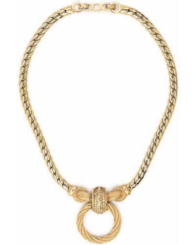 Złoty naszyjnik Christian Dior