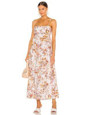 Домашнее бежевое платье с открытой спиной Bardot