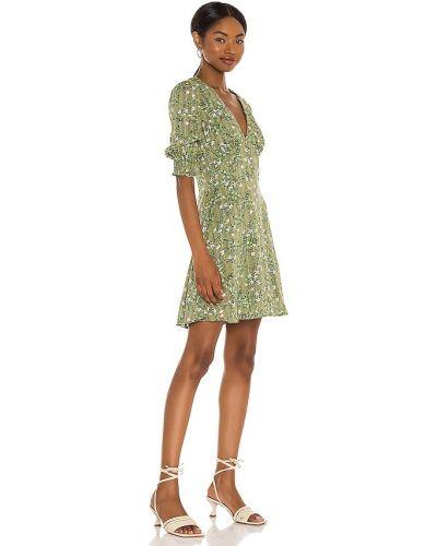 Платье мини в полоску - зеленое Minkpink