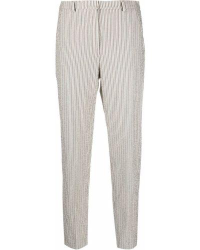 Хлопковые зауженные брюки в полоску Incotex