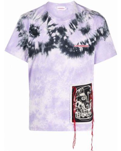 Fioletowa t-shirt z haftem Charles Jeffrey Loverboy