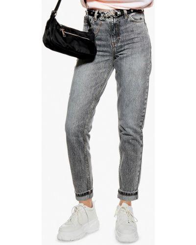 Прямые джинсы серые турецкий Topshop