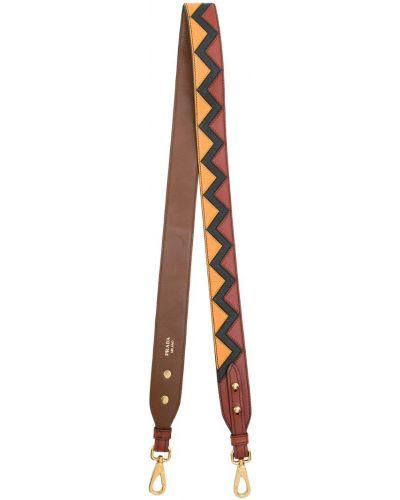 Ремень кожаный с узором Prada
