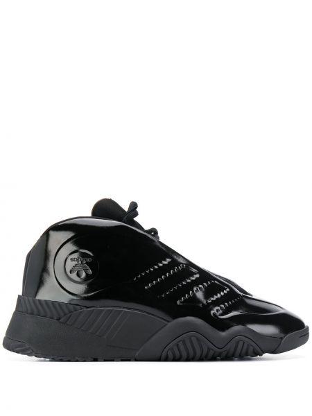 Лаковые кроссовки - черные Adidas Originals By Alexander Wang