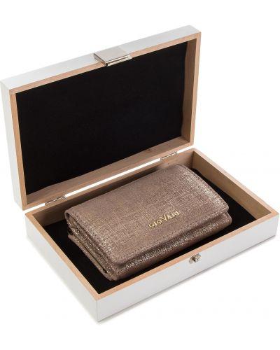 Złoty portfel - beżowy Giovani