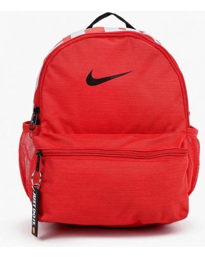Красный текстильный рюкзак Nike