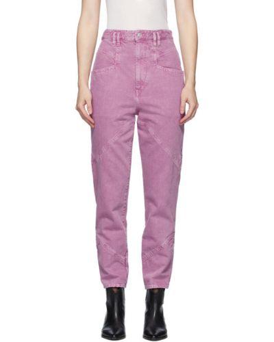 Niebieski jeansy z łatami z kieszeniami Isabel Marant
