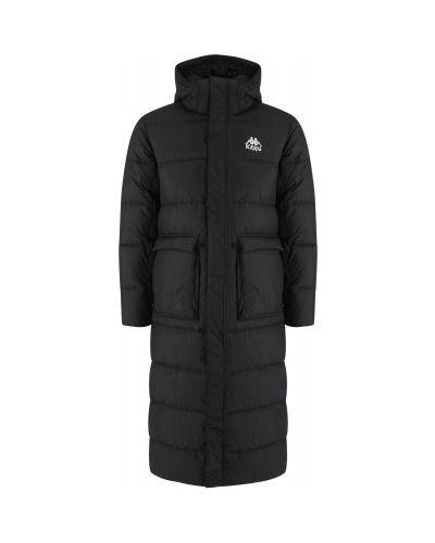 Черная спортивная утепленная куртка с капюшоном Kappa