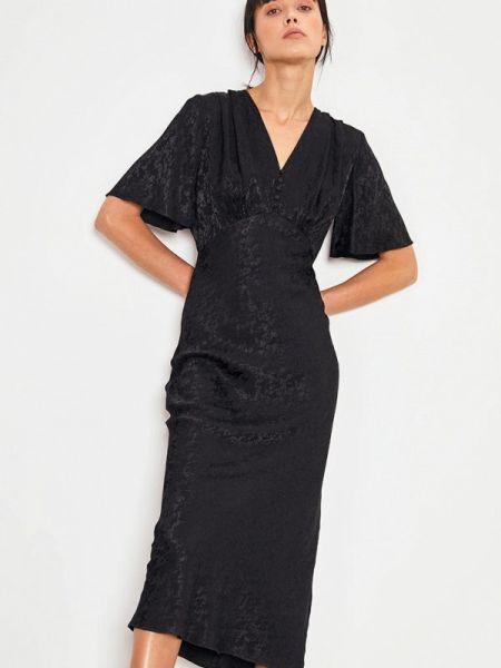 Платье прямое черное Lime