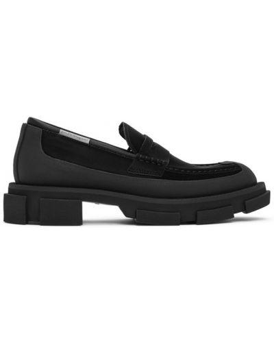Czarne loafers skorzane Both