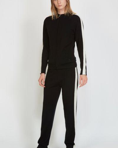 Шерстяные брюки - черные Vassa&co