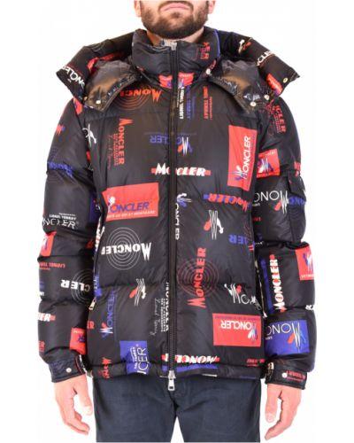 Czarna kurtka sportowa z kapturem casual Moncler