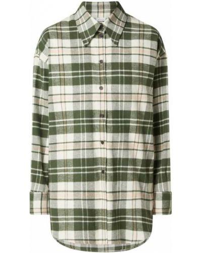 Zielona bluzka z długimi rękawami Seidensticker