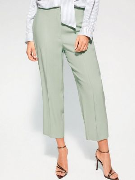 Фиолетовые брюки с воротником Violeta By Mango