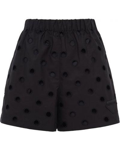 Черные хлопковые шорты Prada