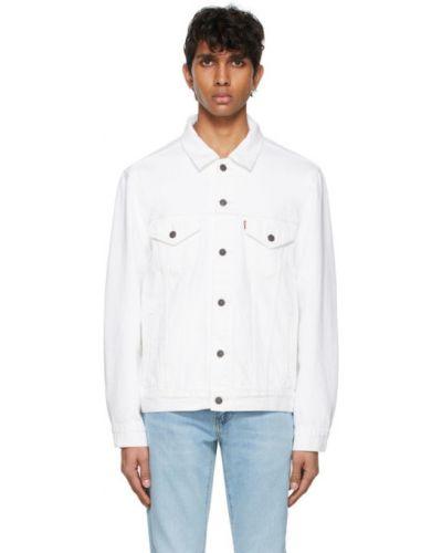 Белая джинсовая куртка с воротником винтажная Levi's®