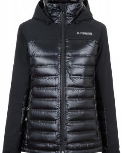 Зимняя куртка с капюшоном черная Columbia