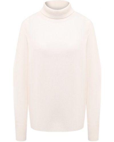 Кашемировый белый свитер Le Kasha