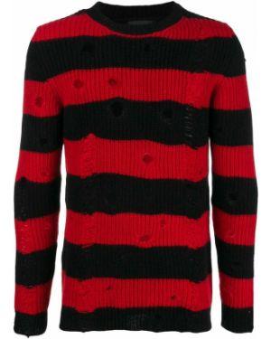 Черный свитер с нашивками Overcome