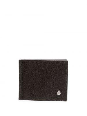 Коричневый кожаный кошелек квадратный Orciani