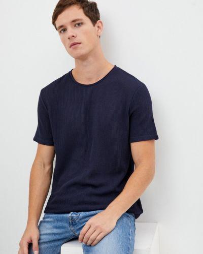 Синяя с рукавами футболка Aarhon
