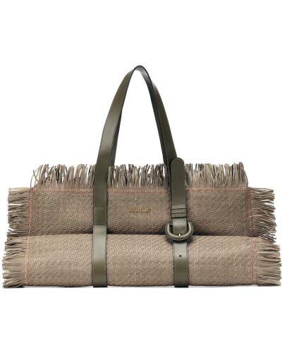 Кожаная сумка дорожняя на плечо Jacquemus