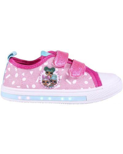 Buty sportowe materiałowe - różowe Lol