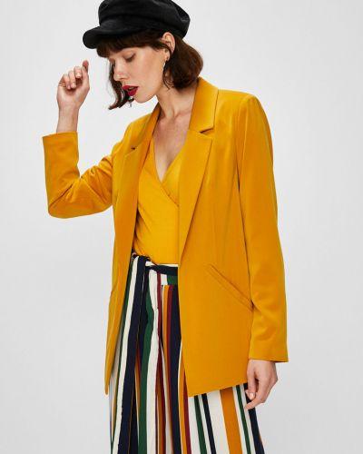 Классический пиджак прямой желтый Answear