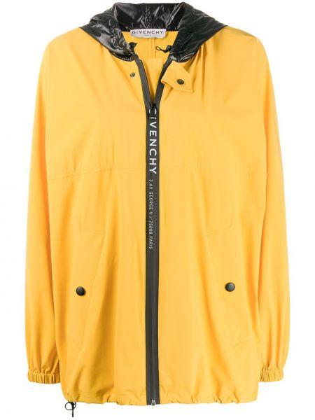 Желтая куртка оверсайз с капюшоном Givenchy
