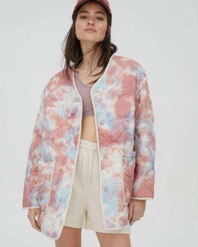 Утепленная куртка - розовая Pull&bear