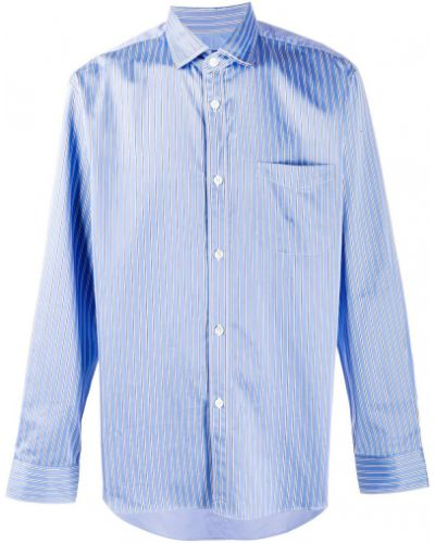 Синяя классическая рубашка с воротником с карманами на пуговицах Junya Watanabe Man