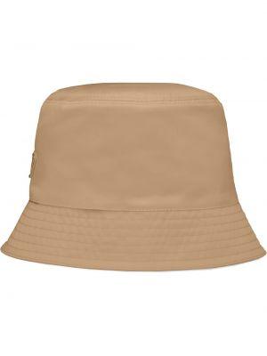 Beżowy kapelusz bawełniany Prada