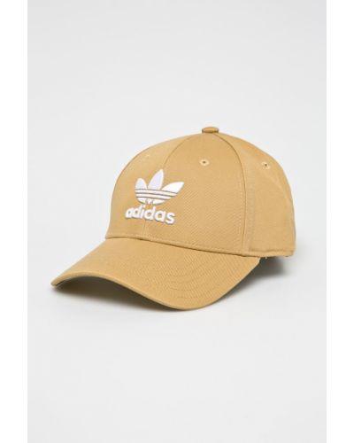 Шапка хлопковая бежевый Adidas Originals