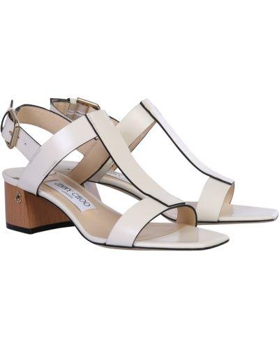 Sandały srebrne - białe Jimmy Choo