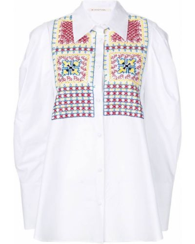 Хлопковая рубашка - белая Miahatami
