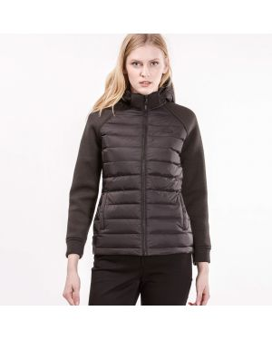 Куртка с капюшоном черная стеганая Lacoste