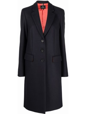 Синее пальто из вискозы Ps Paul Smith