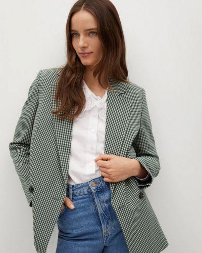 Зеленый пиджак Mango