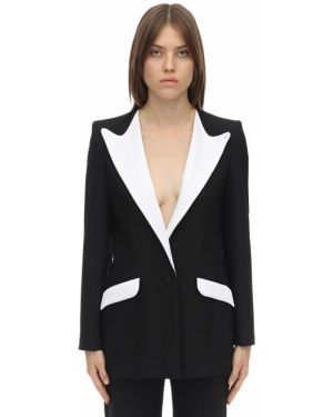 Черный пиджак с карманами с отворотом Hebe Studio
